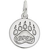 14K White Gold Bear Paw Charm - Aspen
