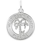 14K White Gold West Palm Beach Florida Charm