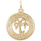 14K Gold West Palm Beach Florida Charm