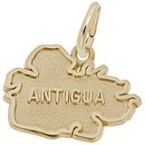 10K Gold Antigua Map Charm