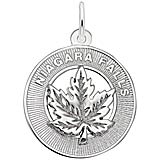 Sterling Silver Niagara Falls Maple Leaf Ring Charm
