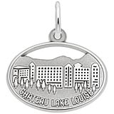 Sterling Silver Chateau Lake Louise Oval Disc Charm