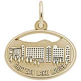 14K Gold Chateau Lake Louise Oval Disc Charm
