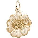 14K Gold Cherry Blossom 3-D Charm