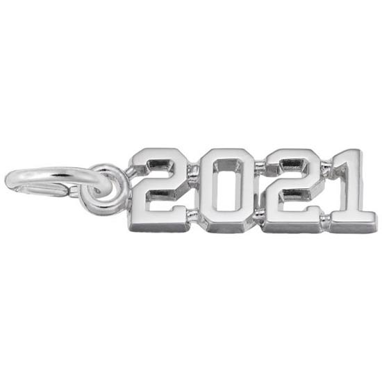 Rembrandt 2020 Year Charm, Sterling Silver