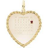 10k Gold Birthstone Calendar Charm by Rembrandt Charms