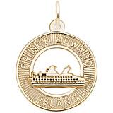 Gold Plate Prince Edward Island Cruise Ship Charm