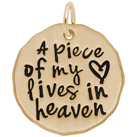 14K Gold A Piece of My Heart Charm by Rembrandt Charms