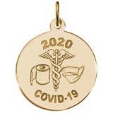 Covid-19 Caduceus Charm
