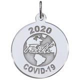 14K White Gold COVID-19 Faith Charm