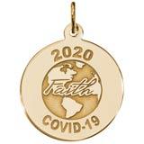 Gold Plate COVID-19 Faith Charm