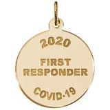 Gold Plate COVID-19 First Responder Charm