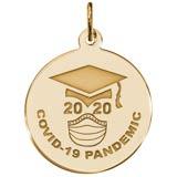 14K Gold COVID-19 Graduation Charm