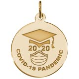 Gold Plate COVID-19 Graduation Charm