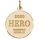 Gold Plate COVID-19 Hero Charm