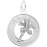 Sterling Silver Aruba Hibiscus Ring Charm by Rembrandt Charms