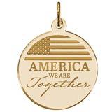 14K Gold COVID-19 America Together Charm