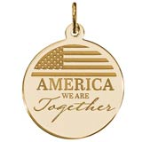 Gold Plate COVID-19 America Together Charm