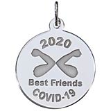 Sterling Silver COVID-19 Best Friends Elbow Bump Charm