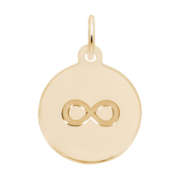14K Gold Initial Disc Infinity Charm by Rembrandt Charms