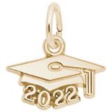 14K Gold 2022 Grad Cap Accent Charm