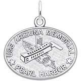 Remember Charms Pearl Harbor USS Arizona Memorial Charm in 14K White Gold
