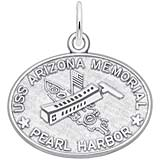 Remember Charms Pearl Harbor USS Arizona Memorial Charm in Sterling Silver