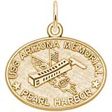 Gold Plate Uss Arizona Memorial Charm