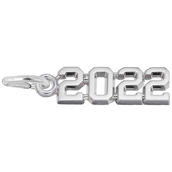 Rembrandt Charms 2022 Year Charm in Sterling Silver