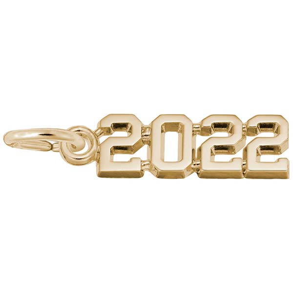 Rembrandt Charms 2022 Year Charm in Gold Plate