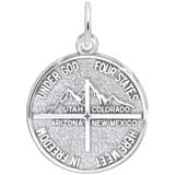 Sterling Silver 4 States Disc Charm