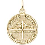 Gold Plate 4 States Disc Charm