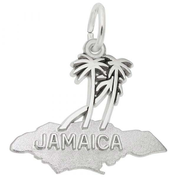 14K White Gold Jamaica Island Palms Charm by Rembrandt Charms