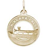 Gold Plate Niagara Falls Maid of the Mist Ring Charm