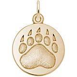Gold Plate Bear Paw Charm - Whistler