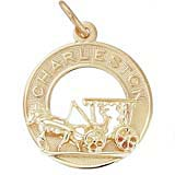Gold Plate Charleston Carriage Charm by Rembrandt Charms