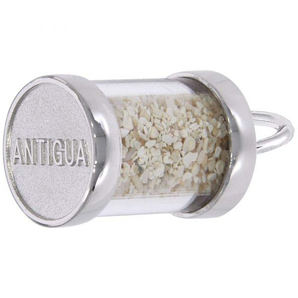14K White Gold Antigua Sand Capsule Charm by Rembrandt Charms