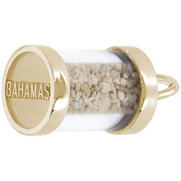 Gold Plate Bahamas Sand Capsule Charm by Rembrandt Charms