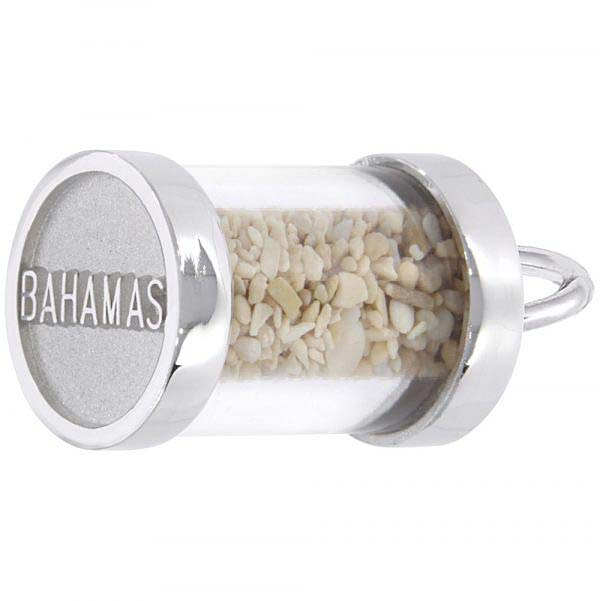 14K White Gold Bahamas Sand Capsule Charm by Rembrandt Charms