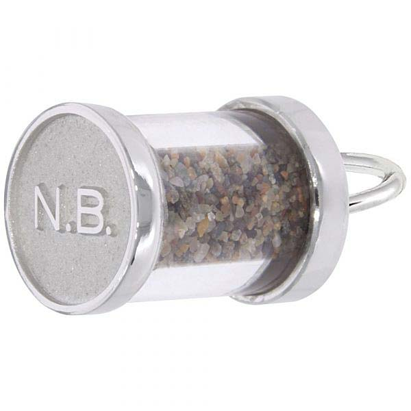 Sterling Silver New Brunswick Sand Capsule Charm by Rembrandt Charms