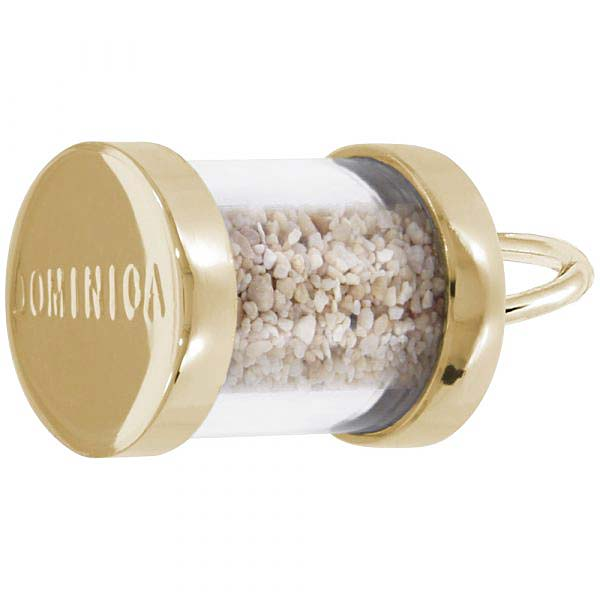 14K Gold Dominica Sand Capsule Charm by Rembrandt