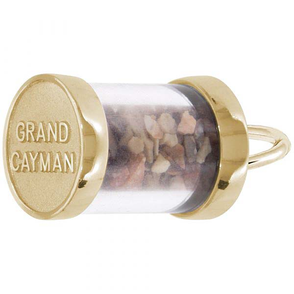 Gold Plate Grand Cayman Sand Capsule Charm by Rembrandt Charms