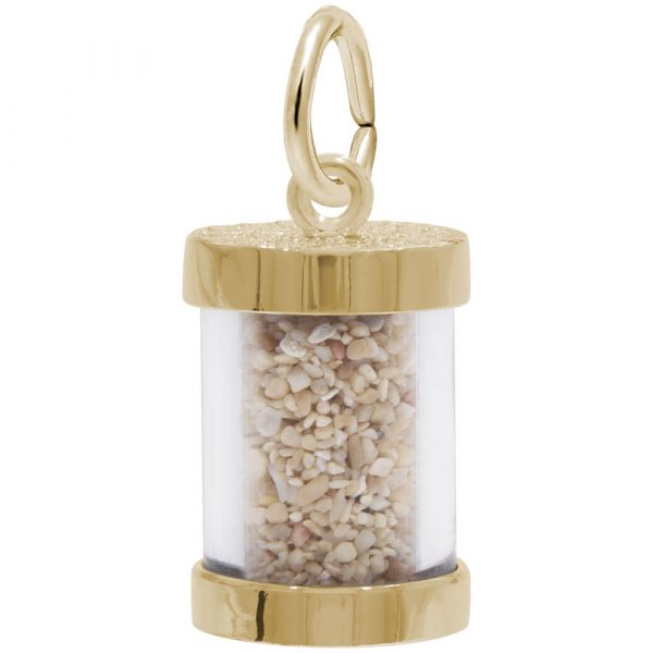 10K Gold Panama Sand Capsule Charm by Rembrandt Charms