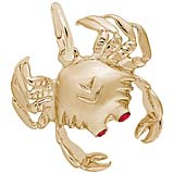 10K Gold Crab with Stones Charm by Rembrandt Charms