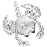 Sterling Silver Crab with Stones Charm by Rembrandt Charms
