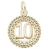 Gold Plate Victory Number 10 Charm