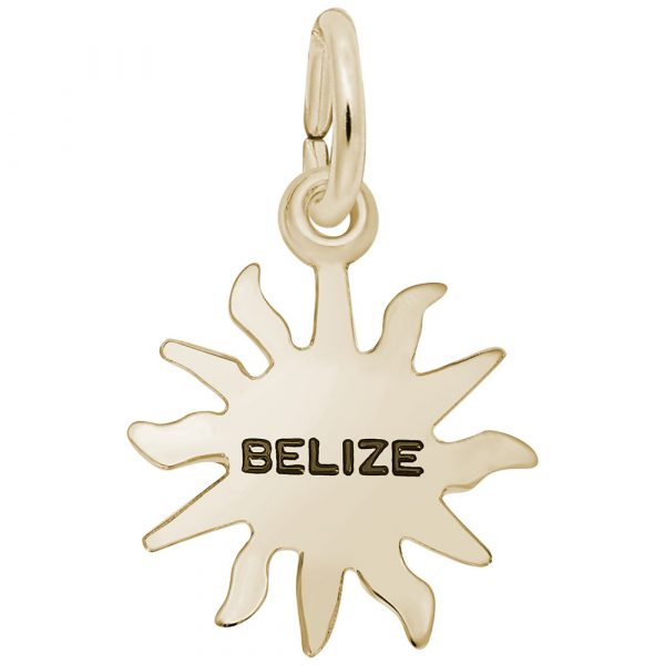 Gold Plate Small Belize Sunshine Charm by Rembrandt Charms