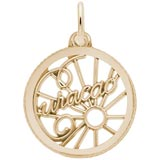 14K Gold Curacao Open Disc Charm