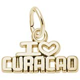 10K Gold I Love Curacao Charm