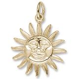 10K Gold Dominica Sun Large Charm